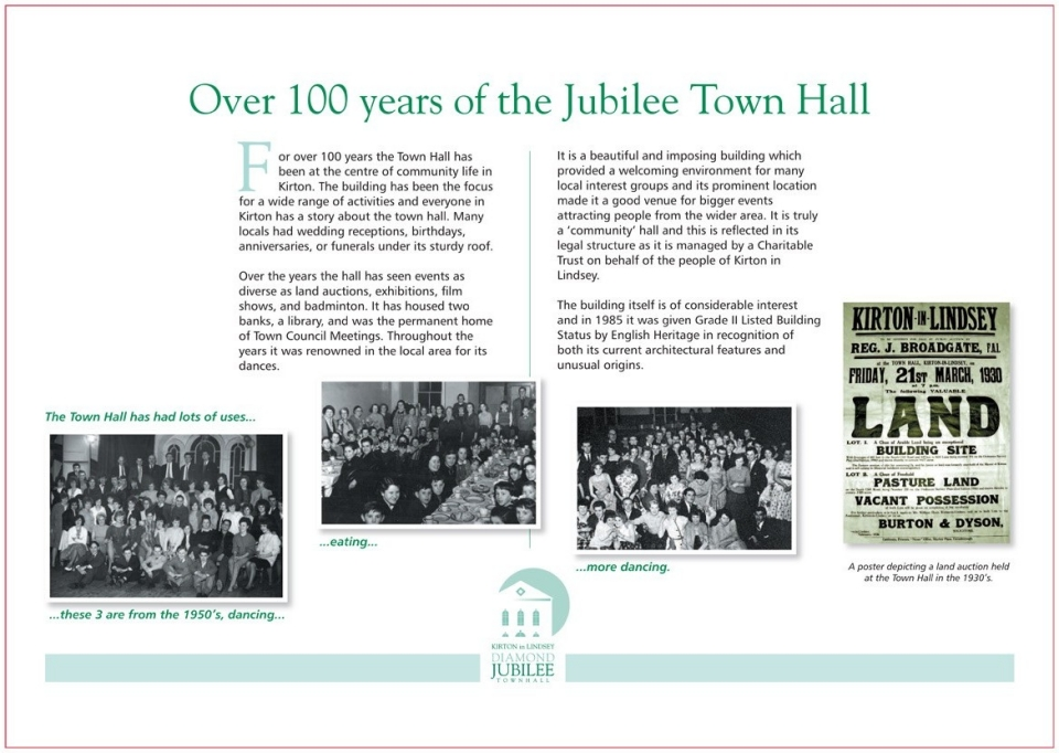 Over 100 Years of the Jubilee Town Hall